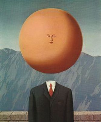 The Art of Living (1948) by Rene Magritte - Magritte revisted this hilarious parody in the 1960s with an almost identical version.