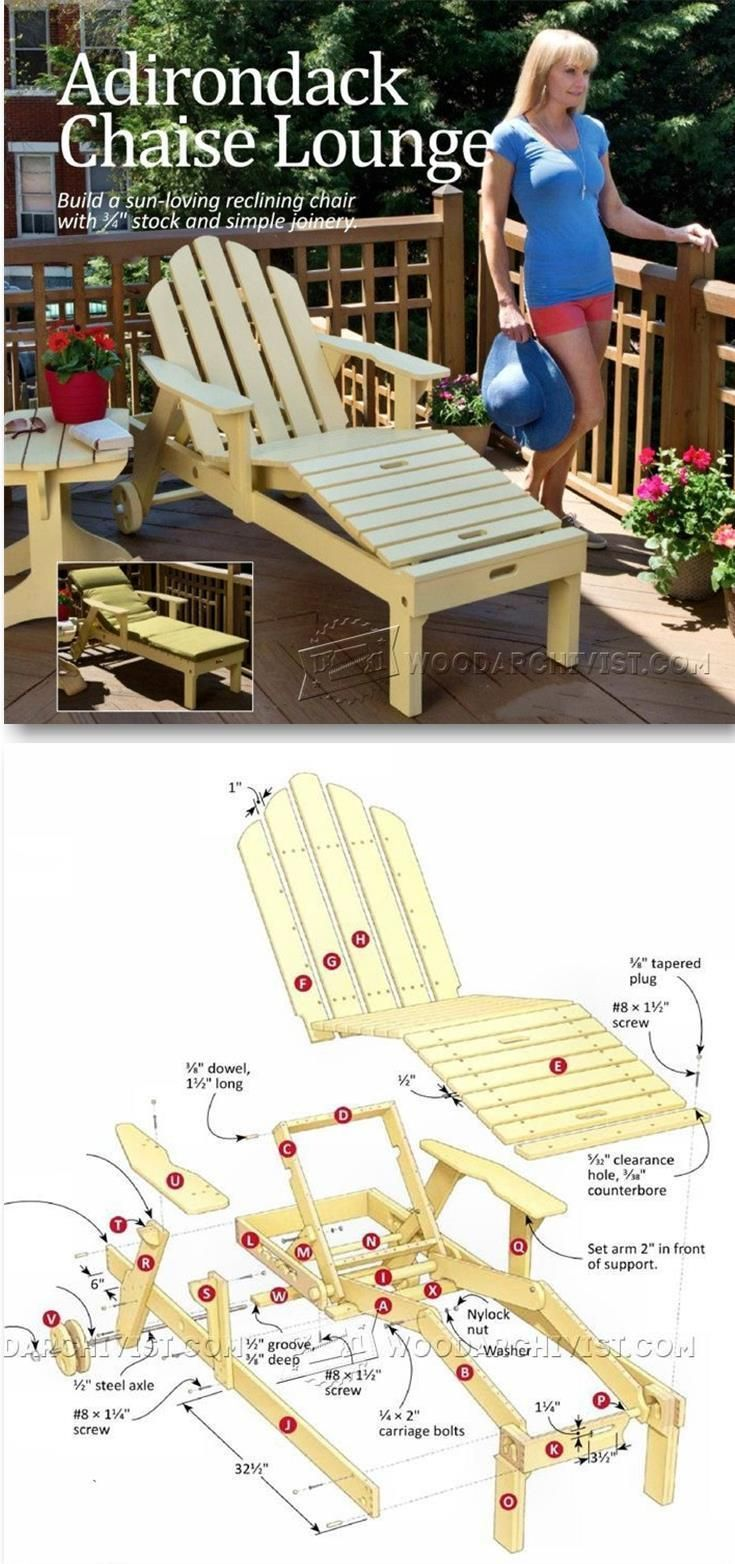 Reclining Sun Lounger Plans - Outdoor Furniture Plans and Projects | http://WoodArchivist.com