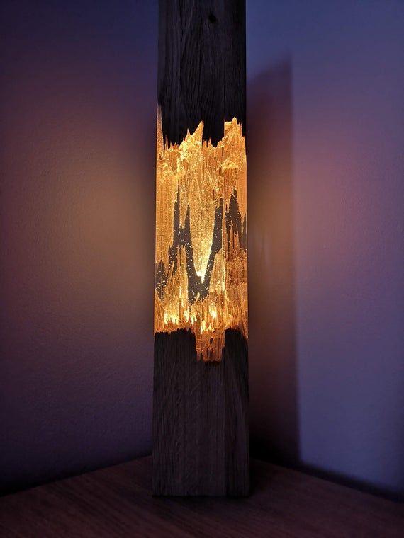 Epoxy Wood Lamp Night Lamp Resin Table Decor Unique Night Etsy Wood Lamps Resin Table Night Lamps