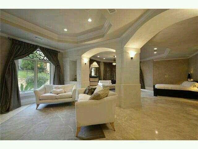 Amazing master bedroom w marble floor home pinterest for Amazing master bedrooms