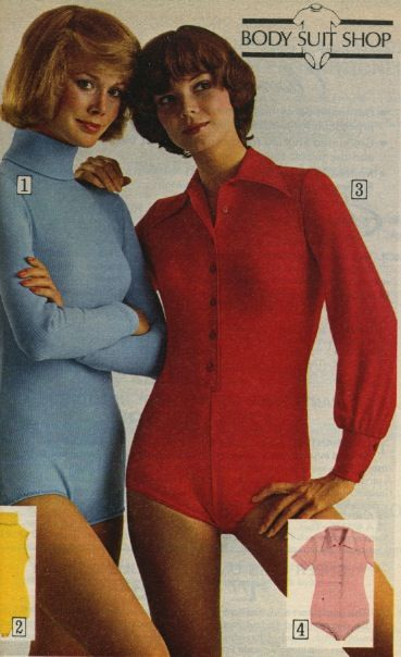 Body Suits. Originally they snapped at the crotch-lovely.