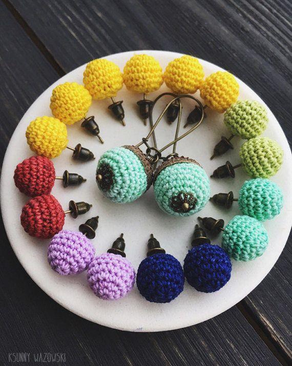 Berry earrings amigurumi earrings cheerful gift by ksunnywazowski
