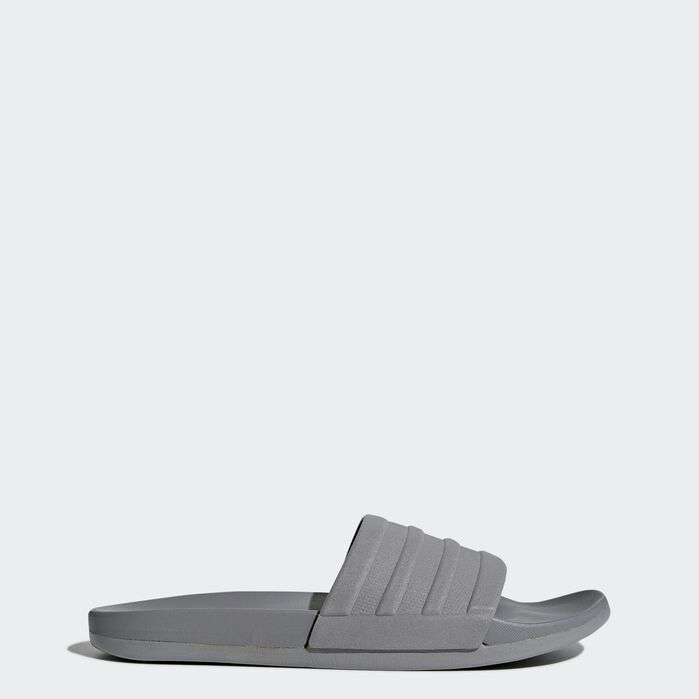 Adilette Comfort Slides Grey Mens | Adidas running shoes ...