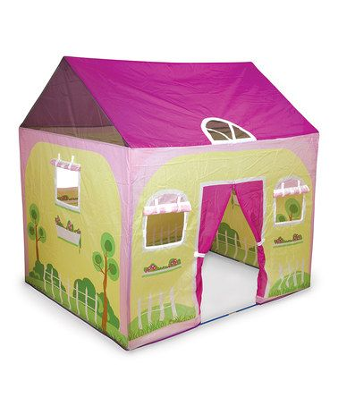 Very cute for girls playhouse. . Loving this Cottage House Play Tent on #zulily! #zulilyfinds