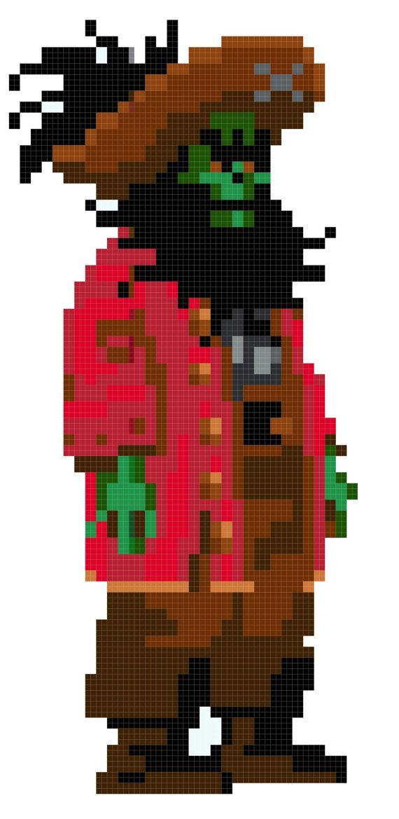Monkey Island Pirate LeChuck cross stitch by QuirkyStitcher, £2.50