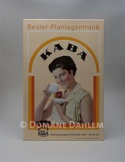 KABA - Werbeschild, Nachdruck von 1929