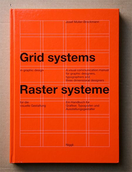 Grid Systems in Graphic Design, by Josef Muller-Brockmann