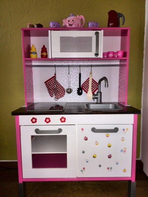 Ikea duktig hack play kitchen for my little girl made for Play kitchen set ikea