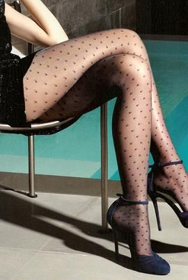 Fun for a night on the town.Shoes, Classic Dots, Long Legs, Fashion Models, Beautiful Legs, Heels, Beautifull Legs, Polka Dots Tights, The Dots