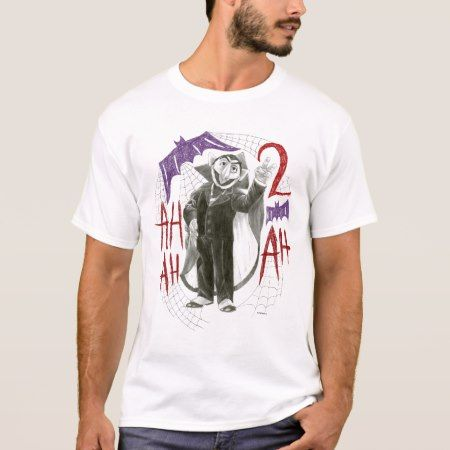 Count von Count B&W Sketch Drawing T-Shirt - tap, personalize, buy right now!