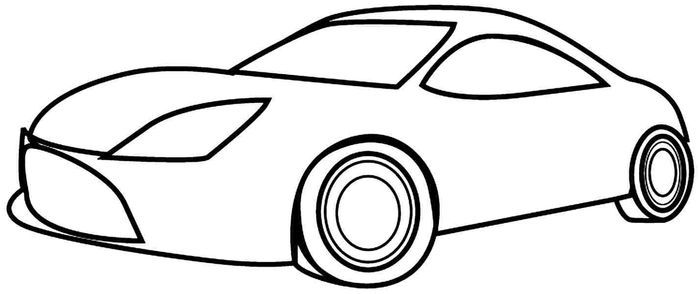 Simple Car Coloring Pages In 2020 Easy Coloring Pages Coloring Pages For Kids Cars Coloring Pages