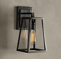 We have 5 sconce lights in back of house.  We can't do urban electric in back.  What about this??Modern Filament Sconce - Bronze