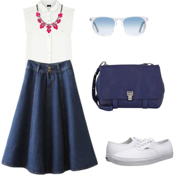 с by marina-172 on Polyvore featuring мода, Armani Jeans, Vans, Proenza Schouler and Oliver Peoples