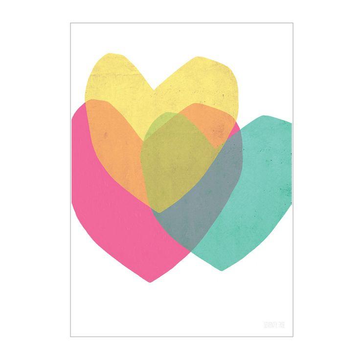 Print . Bright Hearts - A3