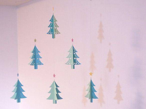 モビール - クリスマス・ツリー(green) -
