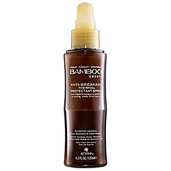 What it is:A heat-protecting styling spray that instantly repairs, strengthens, and smooths hair.What it does:With an exceptionally high level of thermal protection of up to 428 degrees, this multitasking formula provides maximum anti-breakage protection from chemical treatments and tools so hair is not only repaired and replenished, but also thoroughly protected inside and out.
