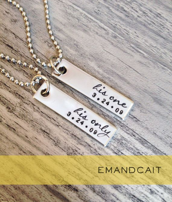 His One His Only Script Gay Couples Jewelry LGBT Necklace