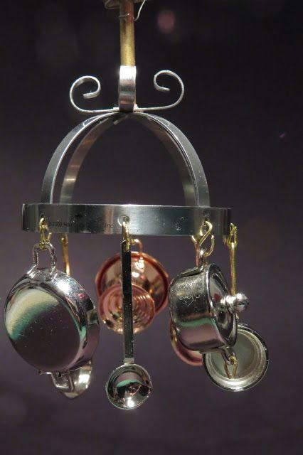 1:12th scale miniature Minworks pot hanger