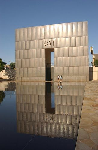 Oklahoma City National Memorial, Oklahoma City 18 years later I still cry when I see this. Some weeks I see it almost every day & the somber feeling never goes away. We will never forget