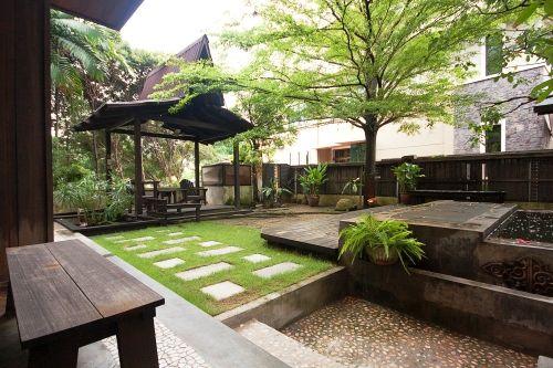 A contemporary take of a malay garden which normally have for Backyard design ideas malaysia