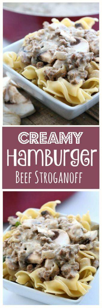 Creamy Hamburger Beef Stroganoff