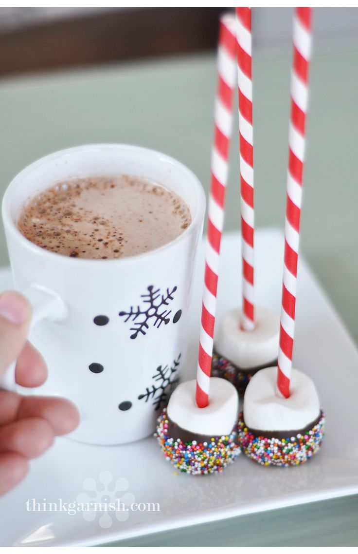 Hot chocolate dippers- omg, love!