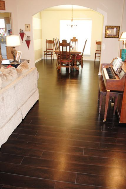 i should be mopping the floor: Our New Vinyl Wood Floors....LOVING THEM!  Are they REALLY inexpensive?? ... gotta check it out...