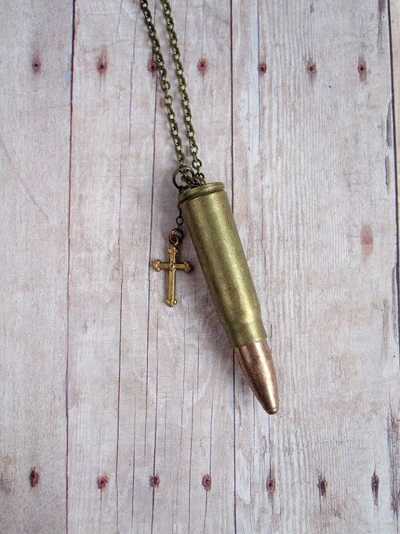 Bullet Necklace Vintage Bullet Jewelry by CircaAD on Etsy, $23.00
