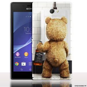 Rigide ou Housse silicone, la protection Teddy Jack Daniels pour Sony Xperia M2, se fixe solidement au smart Phone Sony M2, afin de lui éviter les chocs et rayures. #Coque #Silicone #M2 #coque #sony #xperia #M2 #case #cover #phone #telephone #portable #jack daniels