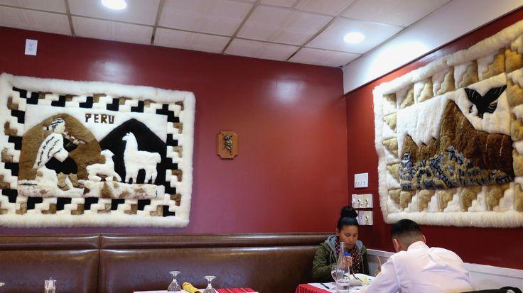 https://flic.kr/p/V1pogi | Cora Cora wall rugs | Fleece wall rugs showing scenes of Peru.  At Cora Cora Restaurant in West Hartford, CT.