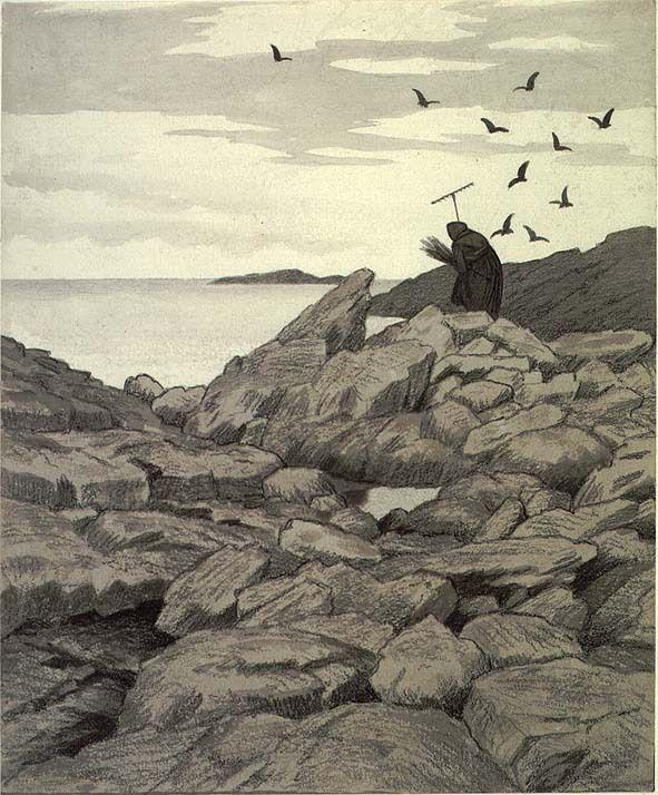 Illustrasjon til Svartedauen, Kristiania 1900 @ DigitaltMuseum.no