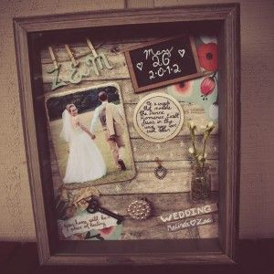 Wedding Shadow Box #diy #tutorial #shabby chic #vintage #rustic #distressed #old feel #memories
