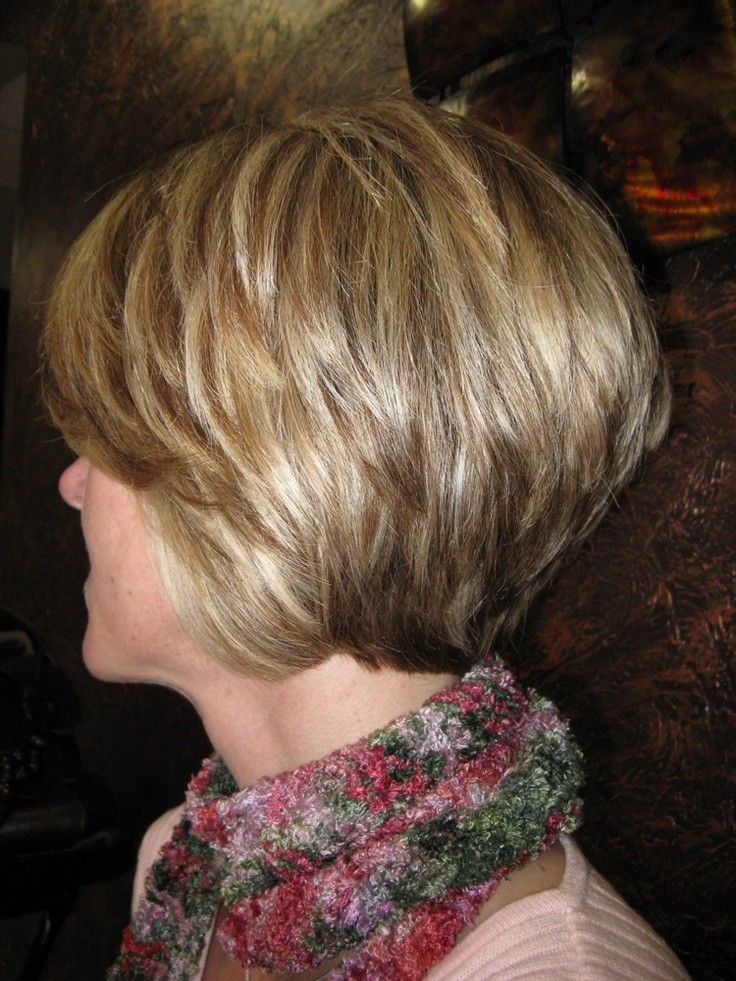 Love the stacked Layered Bob: Short Haricuts for Women Over 40 - 50