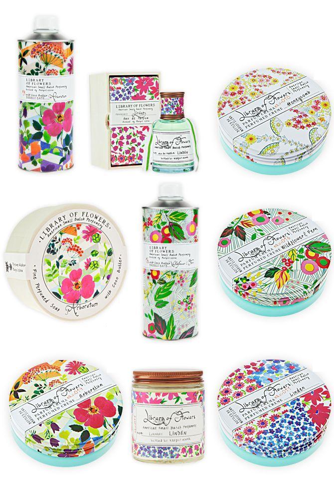 アメリカの香水やクリーム・石鹸を扱うブランド「Library of Flowers」