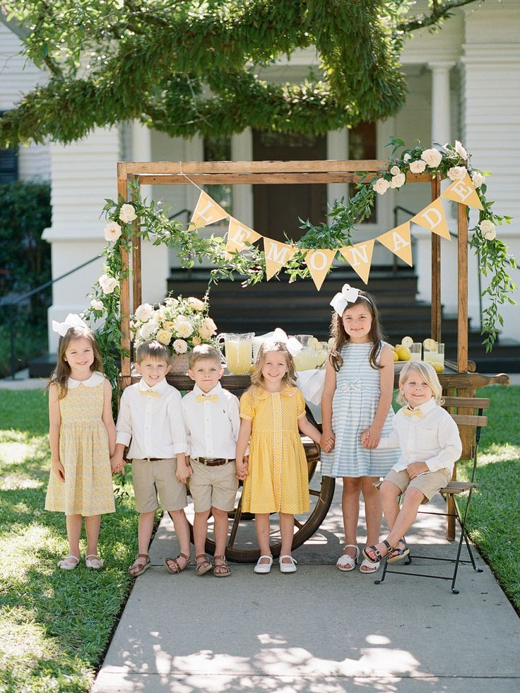 Give your little ones an important job on the big day, by having them man a lemonade stand—guests are sure to love it!