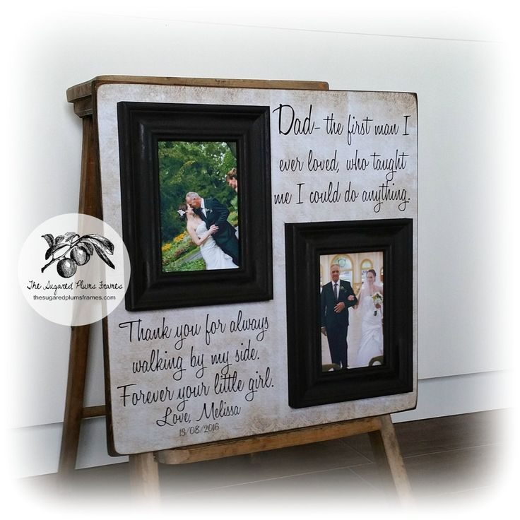 Gift Ideas for Father of the Bride 16x16 The Sugared Plums Frames Today a Bride Tomorrow a Wife