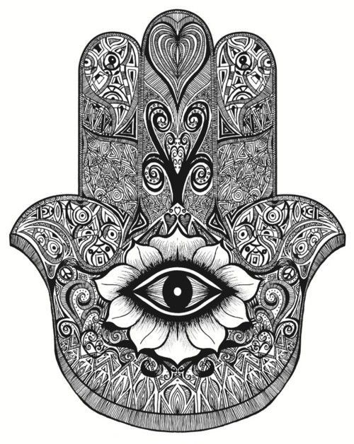 Depicting the open right hand, an image recognized and used as a sign of protection in many societies throughout history, the hamsa is believed to provide defense against the evil eye. The symbol predates Christianity and Islam. In Islam, it is also known as the hand of Fatima,