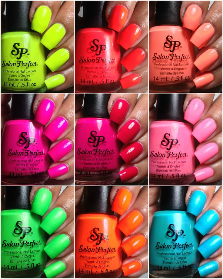 Colores De Carol Salon Perfect Neon Pop Collection Swatches And Review My Nails