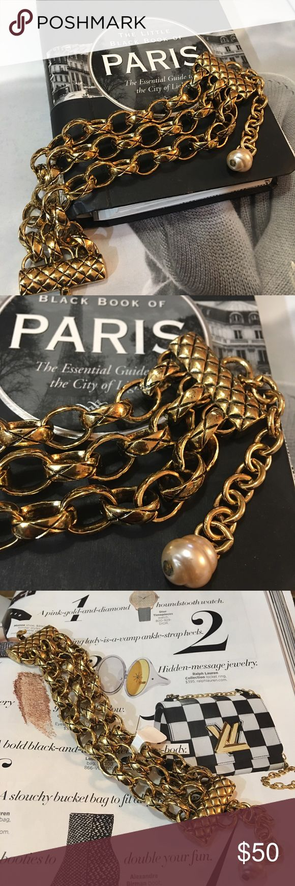 "JOAN RIVERS Gold Triple Strand Bracelet Excellent condition  Triple strand gold bracelet with pearl detail  Hook and eye closure  10.5"" long Joan Rivers Jewelry Bracelets"