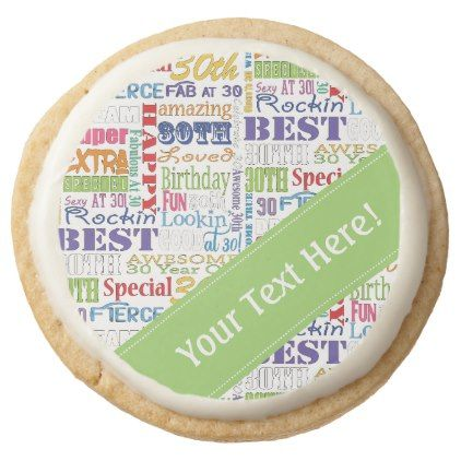 Unique And Special 30th Birthday Party Gifts Round Shortbread Cookie - birthday gifts party celebration custom gift ideas diy