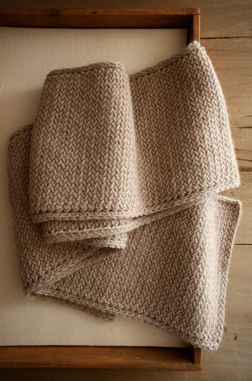 herringbone scarf knitting pattern - the Purl Bee