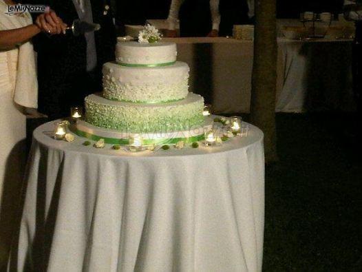 Il Mio Matrimonio - Wedding Planner - Foto Torta nuziale sui toni del verde