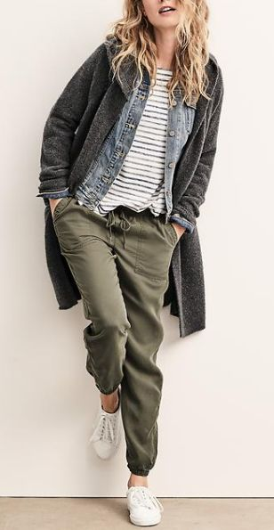 Fall weekend - hooded cardigan with joggers