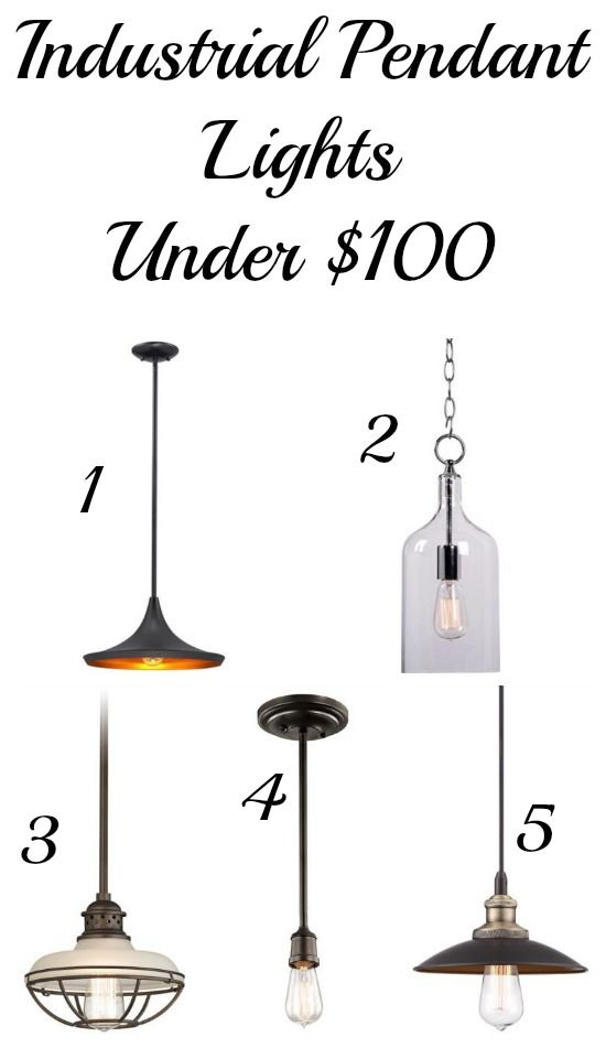 Industrial Pendant Lights Under $100! Love that you can get this great look for so little money!