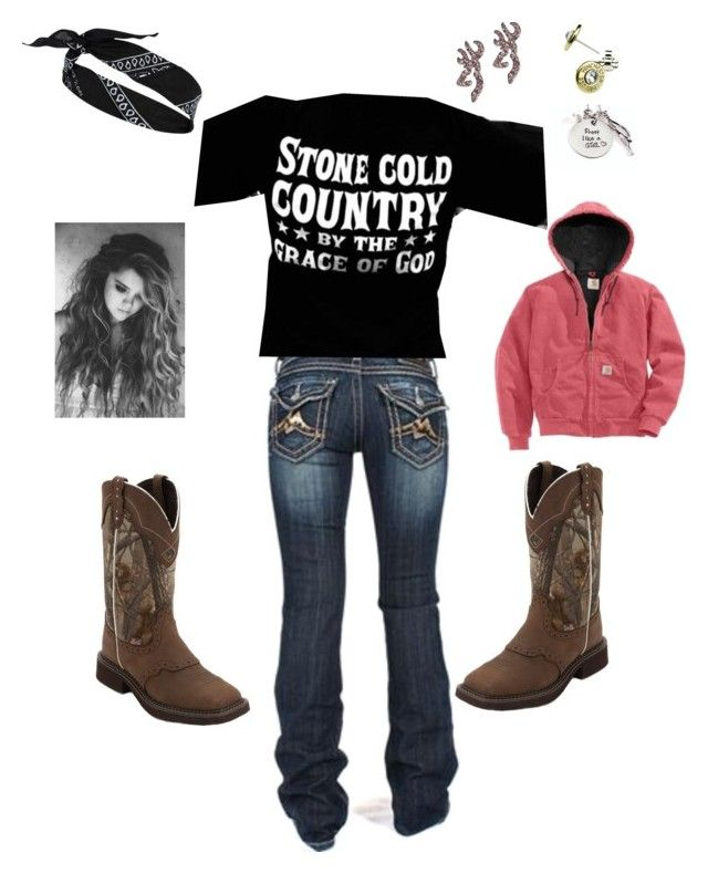"""""""Stone cold country by the grace of god"""" by urtanleggedjuliet ❤ liked on Polyvore featuring Miss Me, Realtree, River Island and country"""