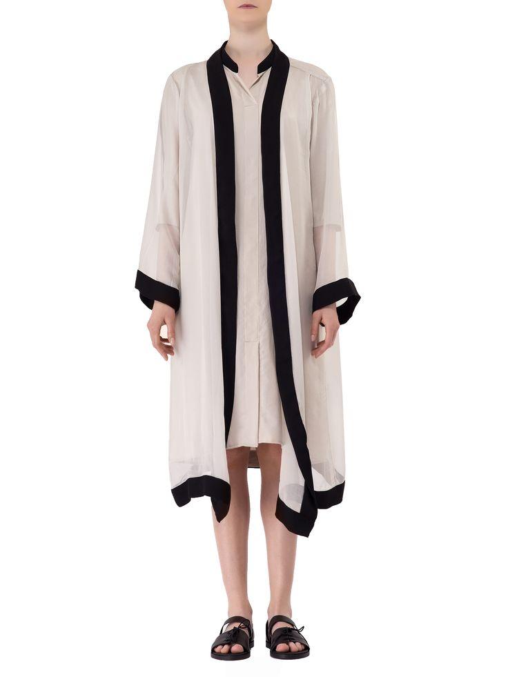 Smaranda Almasan - Wide Sleeved Silk Veil Kimono