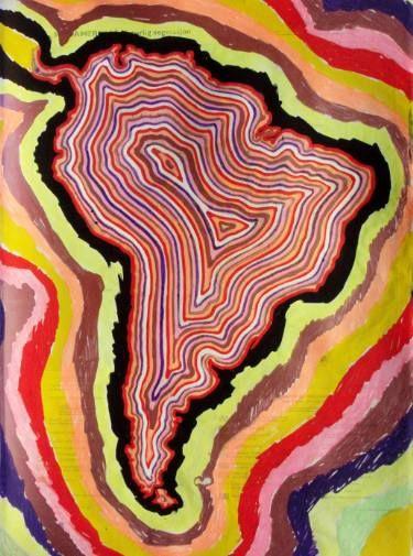 "Saatchi Art Artist Tron Kittelsen; Drawing, ""South America"" #art"