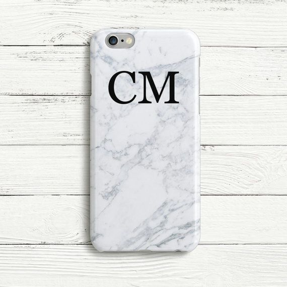 White Large Double Initial Personalized Phone Case by DecorusCases