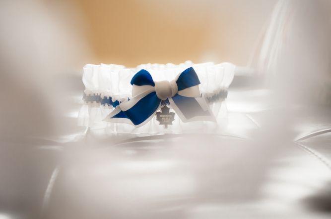 garter belt with toronto maple leaf charm
