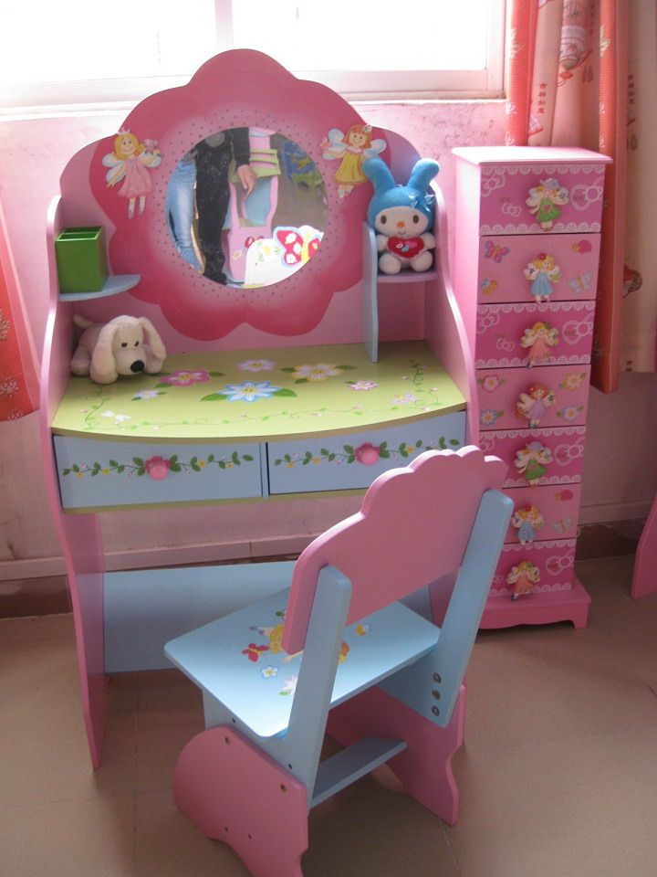 Image detail for -... Mirror, Kids Dressing Table (SFW0406) - large image for Kids Furniture